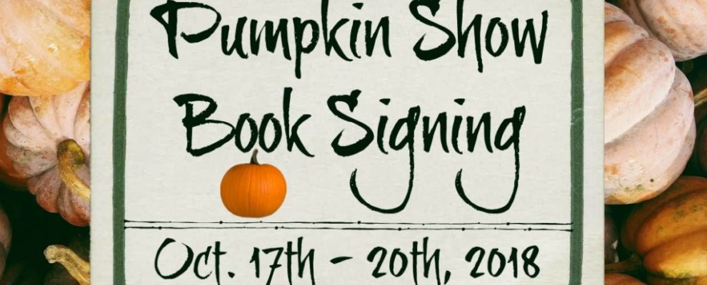Pumpkin Show Book Signing